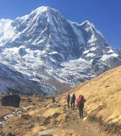 Heading to Annapurna Base Camp